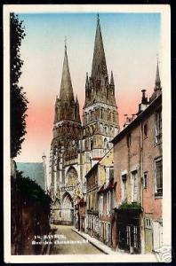 france, BAYEUX, Rue des Chanoines 1930 CAP tinted ppc