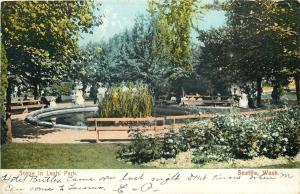 Seattle Washington~Long Plants in Pond at Leshi Park~1907 Postcard