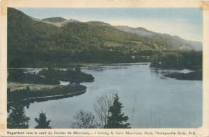 Restigouche River NB New Brunswick looking North from Morrissey Rock - pm 1947