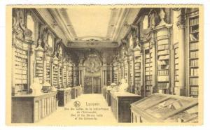 Library Interior, Louvain, Belgium, 00-10s ; University Library hall