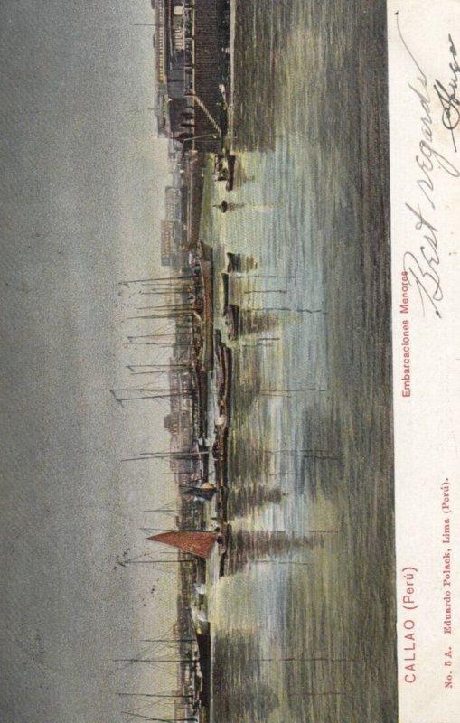 Callao , Peru , 1907 ; Embarcaclones Menorea