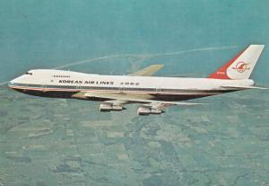 Korean Air Lines Boeing 747B Passenger and all-cargo jumbo jet in flight, 60-80s