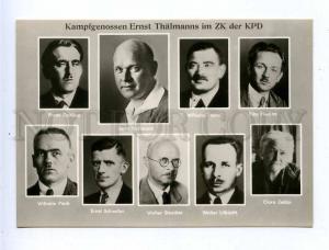 195117 GERMANY Ernst THELMAN Wilhelm Pieck Clara Zetkin