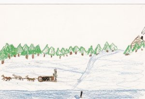 JEAN MARIE RIVER , NWT, Canada, Expo-1986 ; Child Art #2