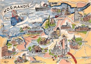 France Les Provinces Francaises Normandie Pays d'Auge Map Trouville Mezidon