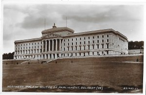 RPPC Northern Ireland Houses of Parliament Belfast Valentine's Post Card