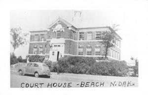 Beach North Dakota Court House Real Photo Antique Postcard K98610