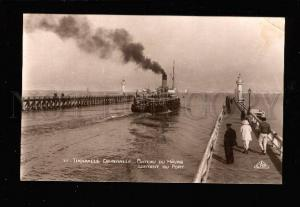 016336 Two LIGHTHOUSE Trouville France Vintage photo PC