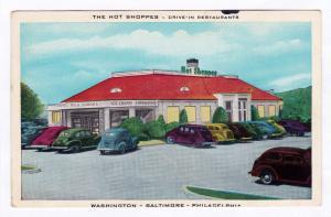 The Hot Shoppes Drive-In Restaurants Washington DC Baltimore MD Philadelphia PA