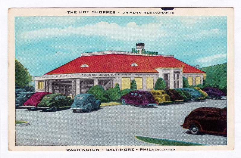 The Hot Shoppes Drive In Restaurants Washington Dc Baltimore