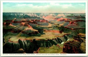 Grand Canyon FRED HARVEY Postcard Cloud Shadows from HOPI POINT H-1515 c1920s