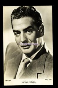 b6456 - Film Actor - Victor Mature - R.K.O.Radio - plain back - postcard