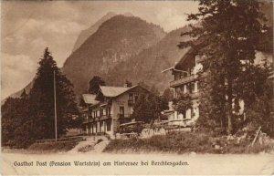 CPA AK Gasthof Post am Hintersee bei Berchtesgaden GERMANY (1066019)