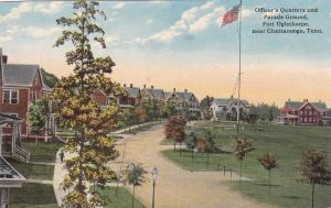 CHATTANOOGA, Tennessee, 00-10s; Officer's Quarters & Parade Ground