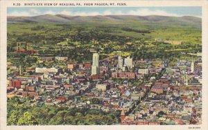 Pennsylvania Birds Eye View Of Reading From Pagoda On Mount Penn Curteich