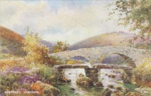 England Dartmoor Dartmeet Rustic Bridge