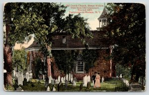 Tarrytown on Hudson NY~Old Dutch Church~Couple in Sleepy Hollow Graveyard~1910