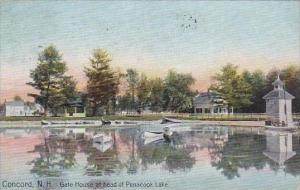 New Hampshire Concord Gate House At Head Of Penacook Lake