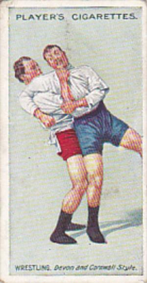 Cigarette Card Player and Sons Wrestling & Ju-Jitsu 1913 No 20 The Heave