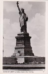 Statue Of Liberty Bedloe's Island New York City Real Photo