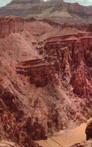 Grand Canyon, AZ, Kaibab Suspension Bridge, Fred Harvey Vintage Postcard h3466