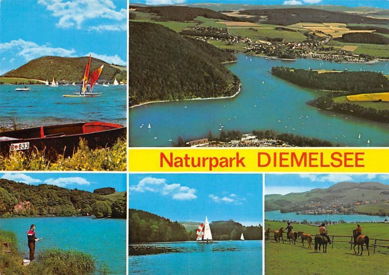 Naturpark Diemelsee multiviews See Lake Boats Horses Chevaux Panorama