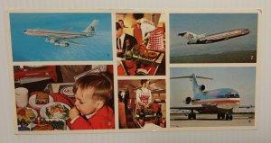 Postcard American Airlines 707 Astrojet 727 Astrojet 1972 Dan Francisco Calif NY
