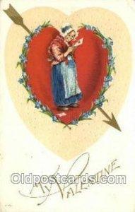 Valentines Day 1917 crease right top corner tip, light corner wear, postal us...