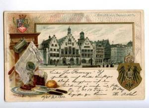 171996 GERMANY Romer BEER Vintage embossed postcard