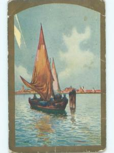 Divided-Back BOAT SCENE Great Nautical Postcard AB0431