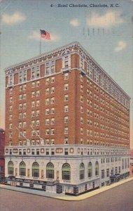 Hotel Charlotte North Carolina 1952