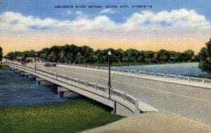 Arkansas River Bridge Dodge City KS Unused
