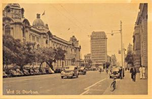 DURBAN SOUTH AFTRICA~WEST STREET-NEWMAN ART POSTCARD 1930s