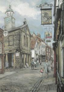 The Black Horse Church Street Whitby Giant Painting Postcard