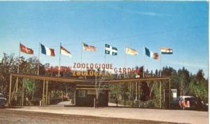 Canada, Entrance to Zoo, Granby, Quebec 1960 used Postcard