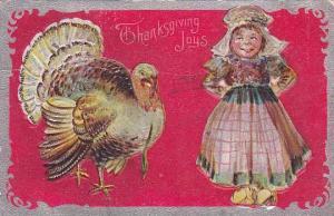 Thanksgiving Joys, Wild Turkey, Dutch Girl, PU-1910