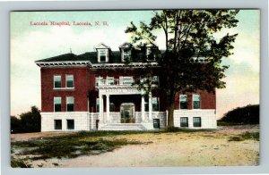 Laconia NH-New Hampshire Laconia Hospital Vintage Postcard