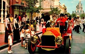 Florida Walt Disney World Mickey Mouse Riding Down Main Street U S A