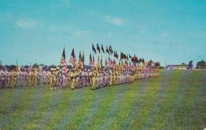 New Jersey Fort Dix Massing Of The Colors Of All Units At Formal Parade 1953