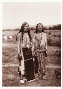 Cheyenne Sun Dance Pledgers in 1911 Native American Modern Postcard