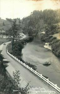 United States real photo Hunter Creek Oregon Coast Highway