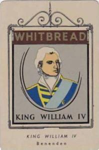 Whitbread Brewers Vintage Metal Trade Card Inn  Signs 1st Series 1949 No 18 K...