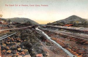 Panama Old Vintage Antique Post Card Canal Cuf at Paraiso Canal Zone 1911