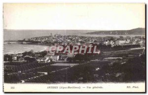 Old Postcard Antibes seen Generale