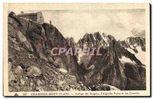 Old Postcard Chamonix Refuge du Requin the Aiguille Verte and the short