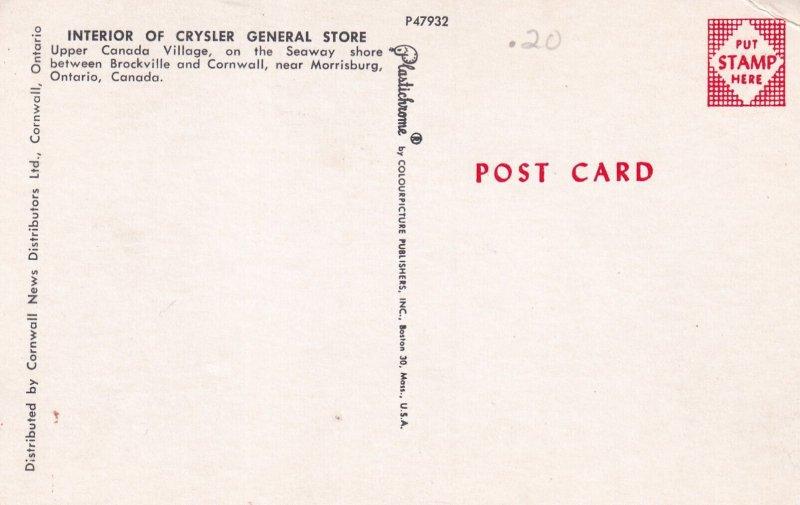 Near MORRISBURG, Ontario, Canada, 1950-1960s; Interior Of Crysler General Store