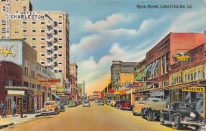 Ryan Street, Lake Charles, Louisiana,  Early Postcard, Used in 1947