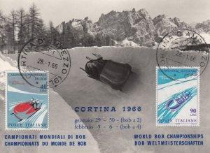Bobsled Championships , CORTINA , 1966