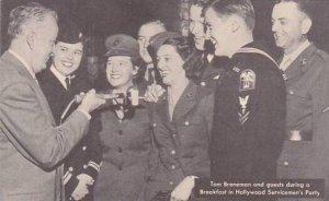 California Hollywood Tom Brennan's Breakfeast In Hollywood Servicemen...