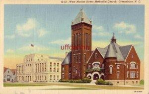 WEST MARKET STREET METHODIST CHURCH. GREENSBORO, NC 1946